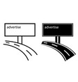 advertise channels on billboard vector image