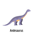 andesaurus icon flat style vector image vector image