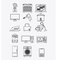 Appliances and supplies for home vector image vector image