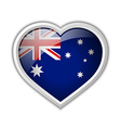 Australian heart icon vector image