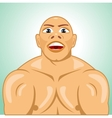 bald bodybuilder straining muscles vector image vector image