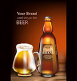 beer realistic mock up product packaging vector image