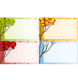 border design with tree in different season vector image
