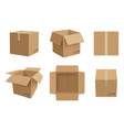 box mockup open and closed cardboard package vector image vector image