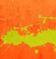 Bright Orange Paint Splash Background vector image vector image