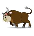 Bull furious vector image