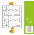 cartoon of paths or maze puzzle activity game with vector image vector image
