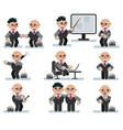 characters businessman game flat icon man vector image
