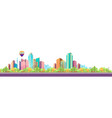 city landscape horizontal day banner vector image vector image