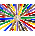 colored pencils for drawing vector image
