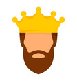 crown king icon flat style vector image vector image