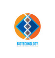 dna biotechnology - logo template concept vector image