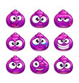 funny cartoon purple jelly monster vector image vector image