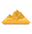 giza egypt sculpture architecture pyramids vector image