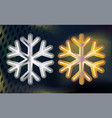 gold and silver snowflake volumetric moderate vector image