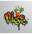 Graffiti word character print vector image vector image