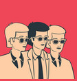 group of men in one body concept vector image vector image