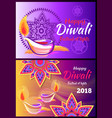 happy diwali festival of lights 2018 poster vector image vector image