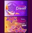 happy diwali festival of lights 2018 poster vector image
