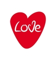 Heart with lettering Love Hand drawn vector image