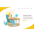 home office website landing page design vector image vector image
