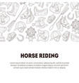 horse riding banner template with place for text vector image vector image