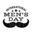 international fathers day with clipart mustache vector image vector image