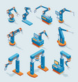 isometric industrial factory automation elements vector image vector image