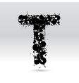 Letter T formed by inkblots vector image vector image