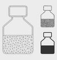 liquid bottle mesh 2d model and triangle