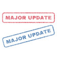 major update textile stamps vector image vector image
