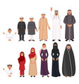 men and women traditional arabic clothes for all vector image