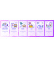 mobile app onboarding screens job career vector image vector image