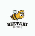 modern professional logo sign bee taxi vector image
