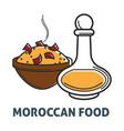 moroccan cuisine food icon vector image vector image