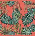 multicolored tropical leaves seamless living vector image vector image