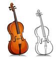 music cello cartoon vector image vector image