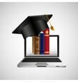 online education concept e-learning graphic vector image vector image