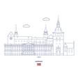 oslo city skyline vector image