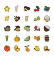 pack of hand drawn food icons vector image