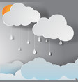 paper art of rainy season vector image vector image