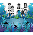 paper art undersea vector image vector image
