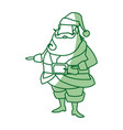 portrait santa claus christmas wearing clothes vector image