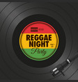poster-flyer-reggae-night-party-vinyl-style vector image vector image
