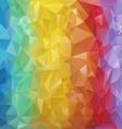 rainbow striped polygonal triangular pattern vector image vector image