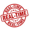 real-time red grunge stamp vector image vector image