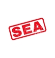 Sea Rubber Stamp vector image vector image