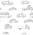 Seamless pattern Transport Sketch Set vector image