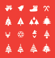 set christmas icon vol 1 vector image vector image