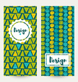 Set hipster backgrounds in blues and greens Hand vector image vector image